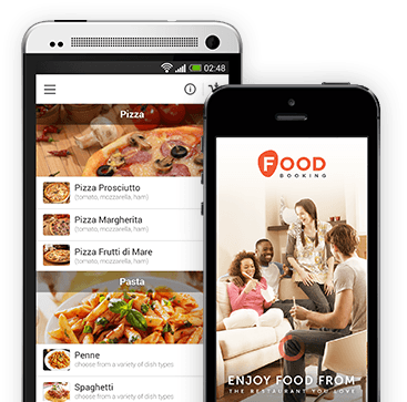 Foodbooking smartphone screenshot