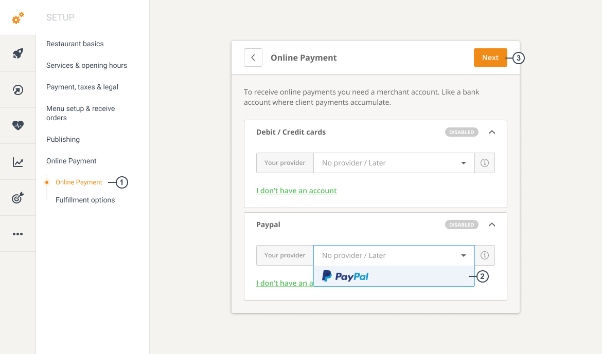online ordering system with paypal payment