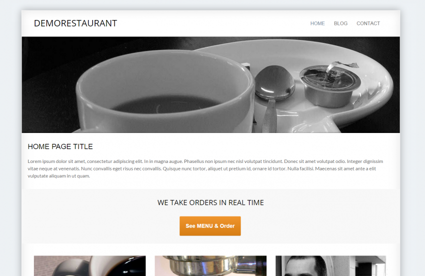 publish the online ordering button in joomla