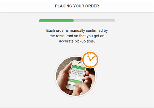 mobile ordering app with real time confirmation