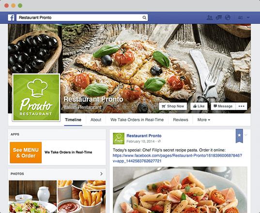 Facebook ordering for restaurants