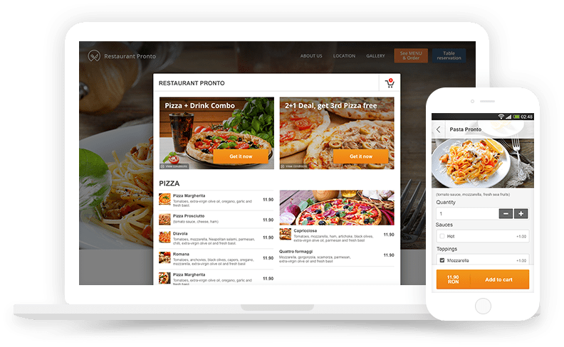 Free restaurant ordering system