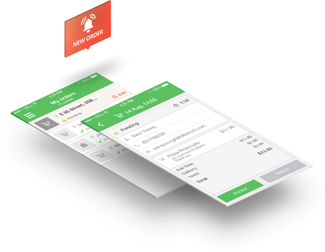 Online ordering wix restaurant with real time orders and order taking app