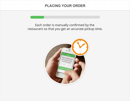 Free order taking app with real time order confirmation