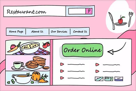 Online menu for website and Facebook page