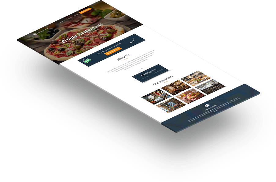 Restaurant website design generator