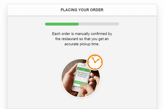 real time confirmation screen