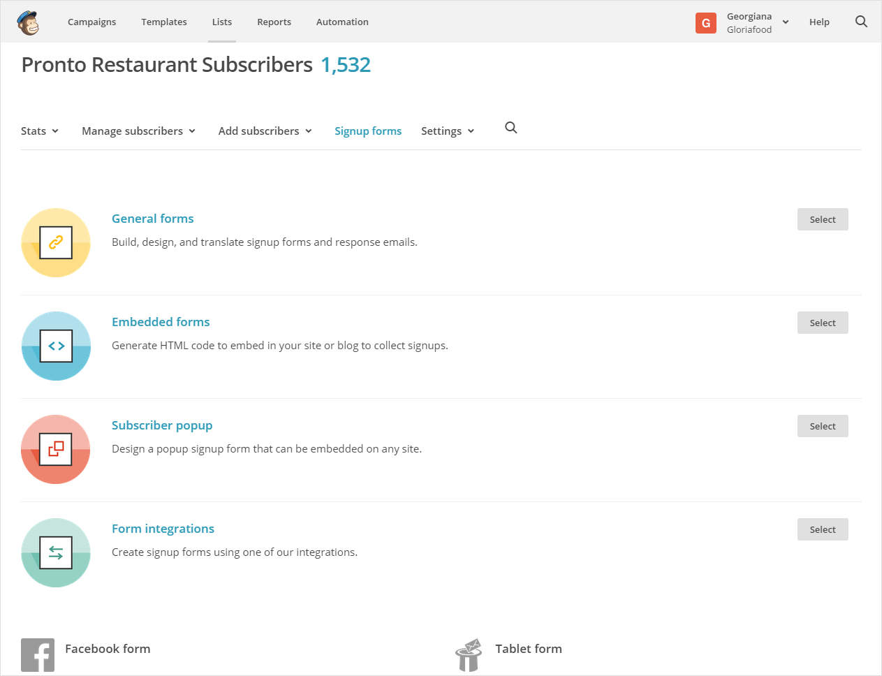 restaurant email marketing  manage subscribers with mailchimp