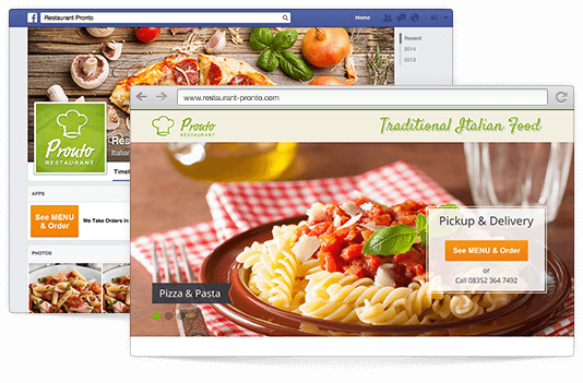 Website and Facebook online ordering