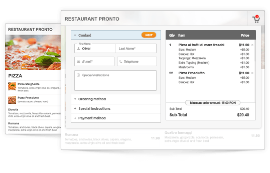 Online Ordering Software Screenshot