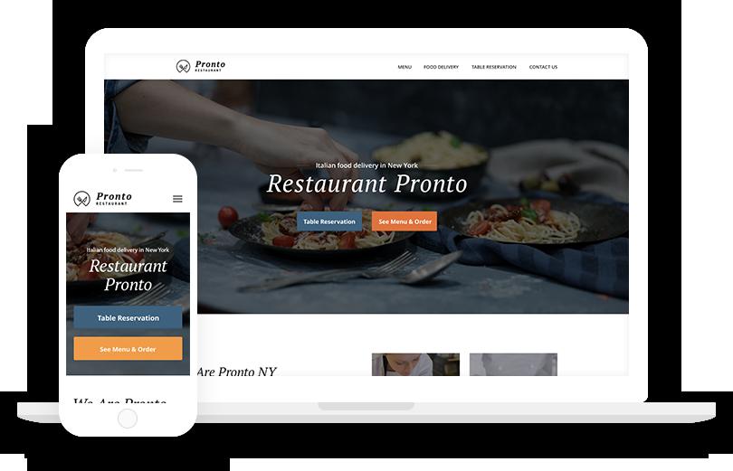 Free WordPress Restaurant Theme with Online Ordering