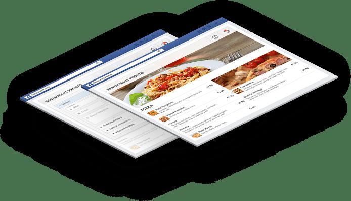 Facebook menu app for restaurants