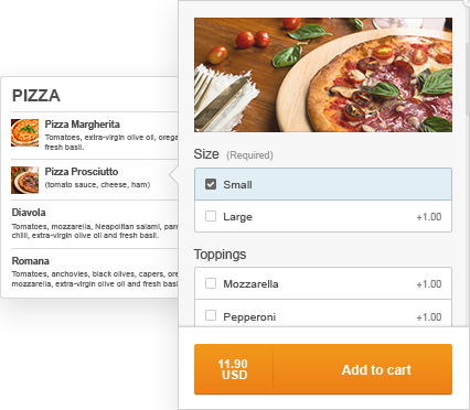 free restaurant menu online with customizable items