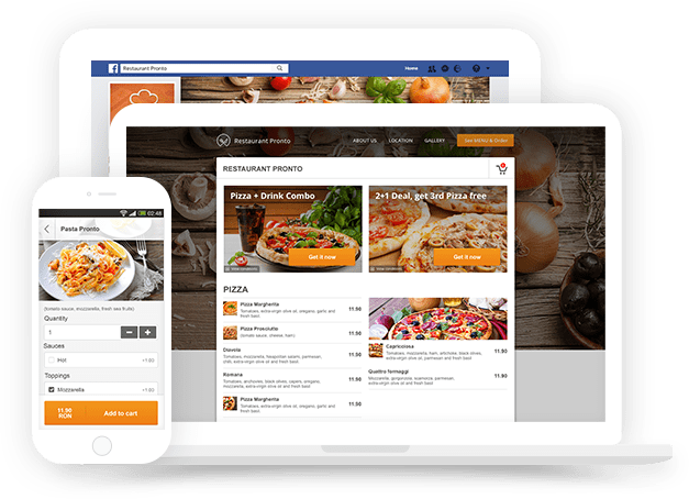Free restaurant menu maker online with real time ordering