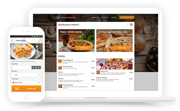 Online ordering system compatible with wordpress restaurants