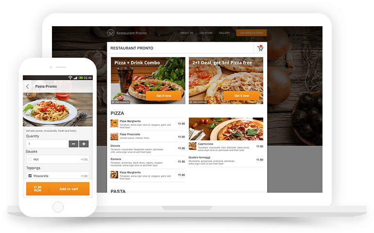 free restaurant menu creator with food ordering