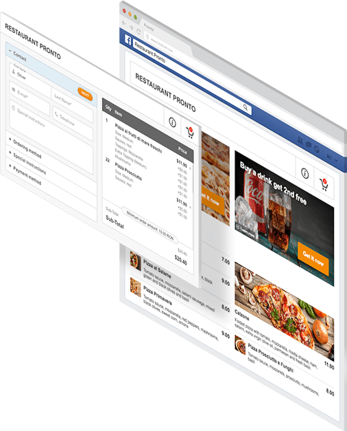Free online restaurant menu maker for Facebook