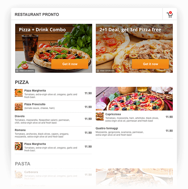 create your online restaurant menu