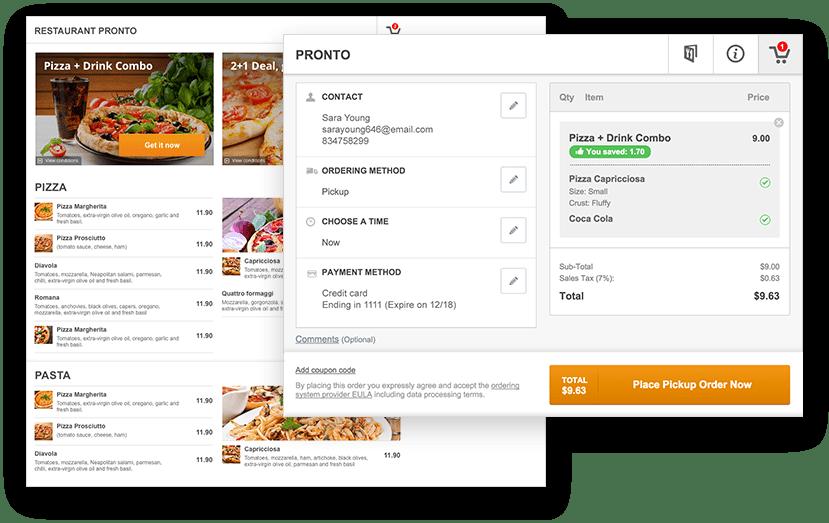 Free restaurant menu online