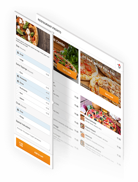 online restaurant menu with online ordering for joomla