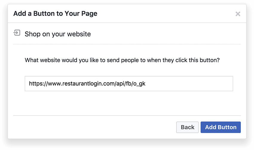 Online restaurant on your Facebook page