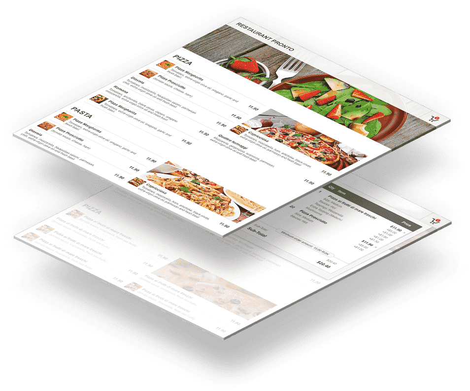 Integrated online menu and online ordering system